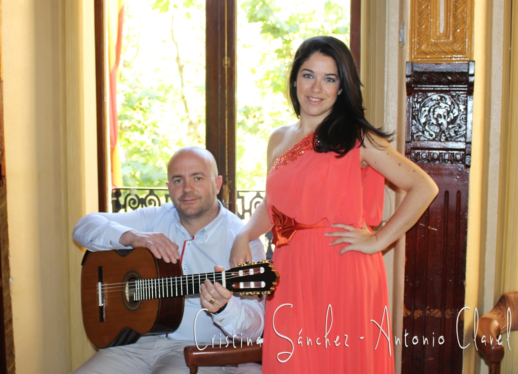 Primavera de 2014 tomadas en el Casino de Aspe, Cristina Sánchez y Antonio Clavel